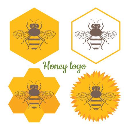 Honey logo vector set. Modern design for your business.