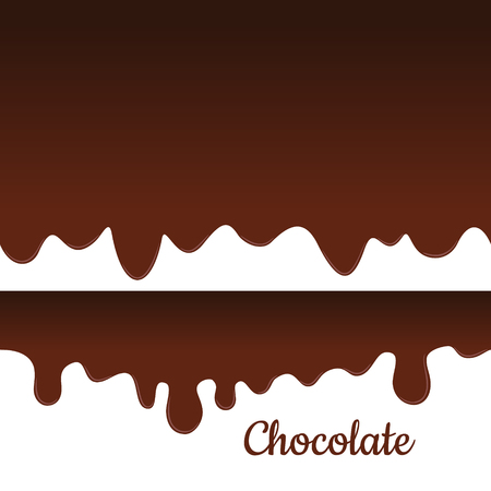 melted chocolate: Melted chocolate seamless vector. Sweet drips background. Illustration