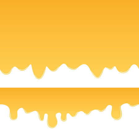 beekeeping: Honey drips seamless vector. Sweet honey background for beekeeping products.