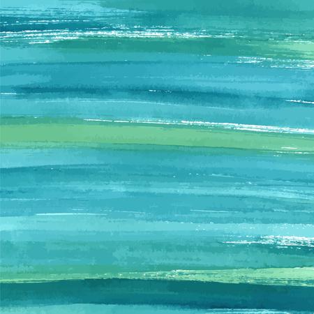 手には、ターコイズ ブルー水彩クリエイティブアブストラクト ペイント テクスチャが描画されます。スプラッシュのベクトルの背景。  イラスト・ベクター素材