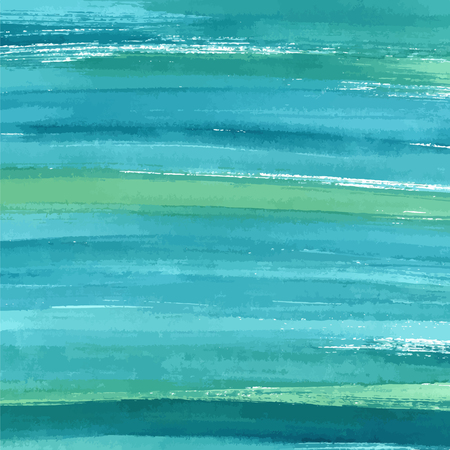 Hand drawn turquoise blue watercolor abstract paint texture. Vector splash background.