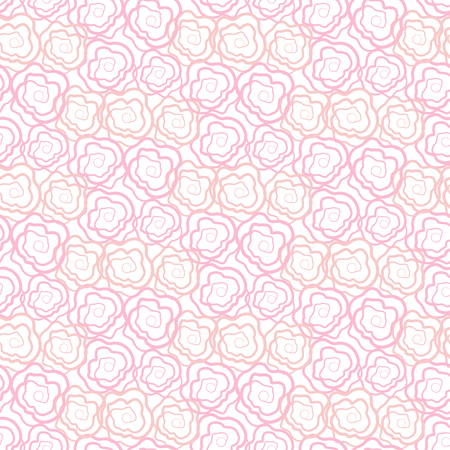 romance bed: Vintage floral seamless pattern. Vector roses cute ornament for cards, wallpapers, backgrounds on the Valentines day, wedding.