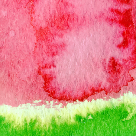 Hand drawn watercolor watermelon abstract paint texture. Vector wet background. Illustration