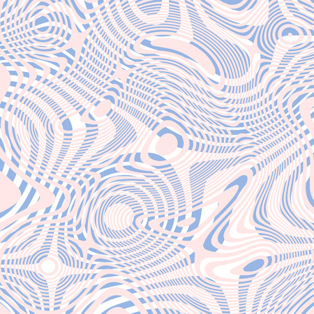 opt: striped geometric texture. Opt Art abstract Rose quartz and serenity background. Illustration