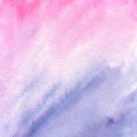 Rose quartz and serenity watercolor abstract gradient texture. Vector hand drawn painted background.