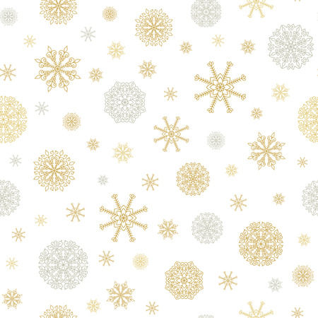 xmax: Winter Holiday vector seamless pattern background with snow.