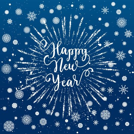 Happy new year greeting card vector winter holidays backgrounds happy new year greeting card vector winter holidays backgrounds with starburst hand lettering calligraphic m4hsunfo