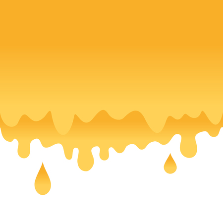 Honey drips seamless vector. Sweet honey background for beekeeping products.