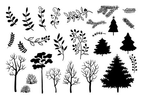 Colección De Los árboles Ilustraciones Vectoriales, Clip Art ...