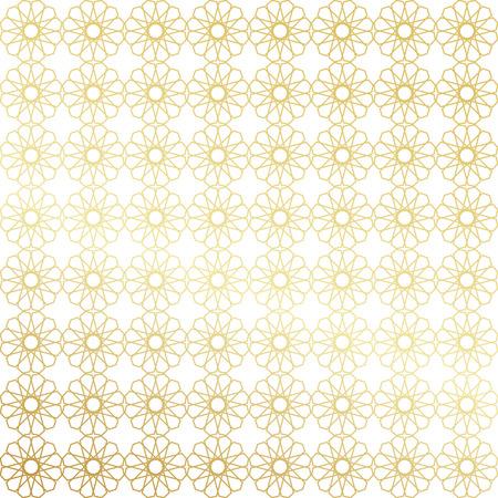 islamic pattern: Ramadan Kareem gold greeting card, banner, seamless pattern. Vector arabic ornate geometric shining background in islamic style