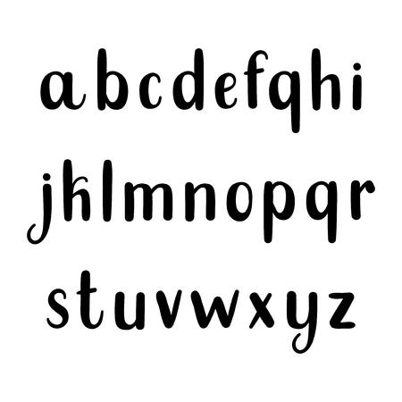 pen and marker: Vector font, alphabet Illustration