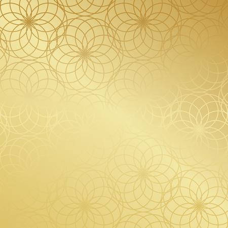 Ramadan Kareem gold gradient greeting card, banner, seamless pattern. Vector arabic ornate geometric shining background in islamic style Ilustração