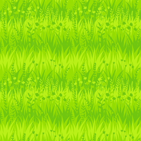 Summer green grass seamless pattern background. Vector eco, nature design wallpaper