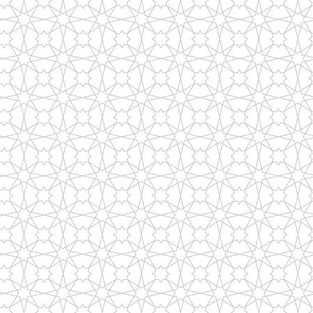 Ramadan Kareem black and white seamless pattern. Vector arabic ornate geometric islamic background