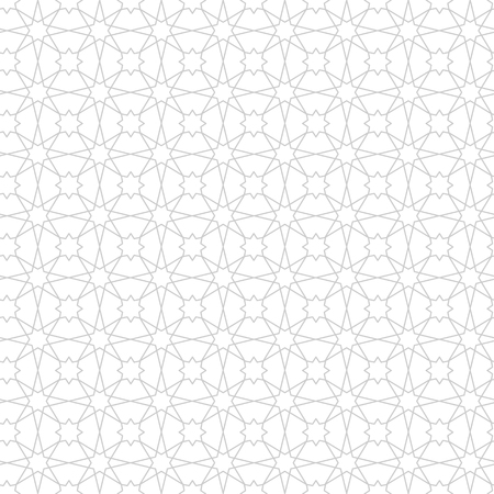 Ramadan Kareem black and white seamless pattern. Vector arabic ornate geometric islamic background