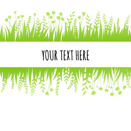 Achtergrond van het de zomer de groene gras voor tekst. Vector eco, natuur ontwerp banner, sjabloon