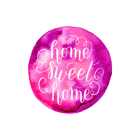 Home Sweet Home quote design Illustration