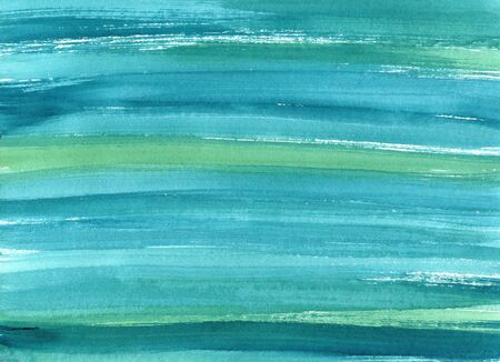Hand drawn turquoise blue watercolor abstract paint texture. Raster splash background.