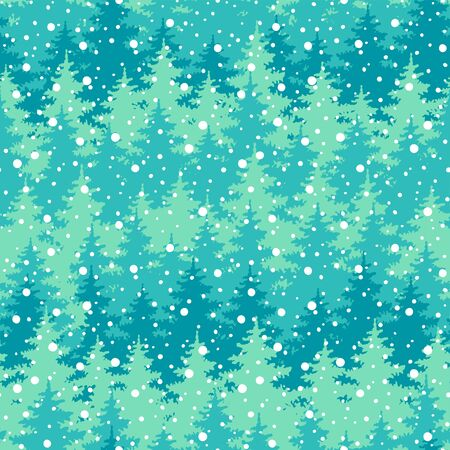 Christmas trees seamless pattern Ilustrace