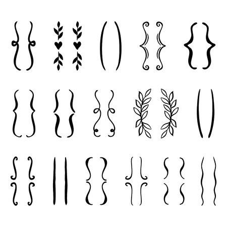 conjunto de los órganos dibujados a mano . icono del vector . Ilustración de vector