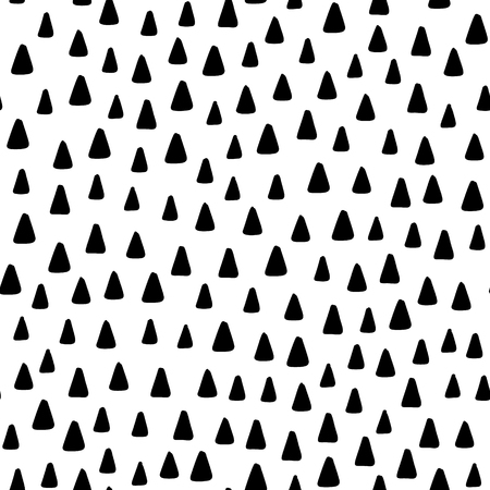 Hand drawn cute kids abstract seamless pattern. Rustic, boho simple black and white background. Cartoon illustration