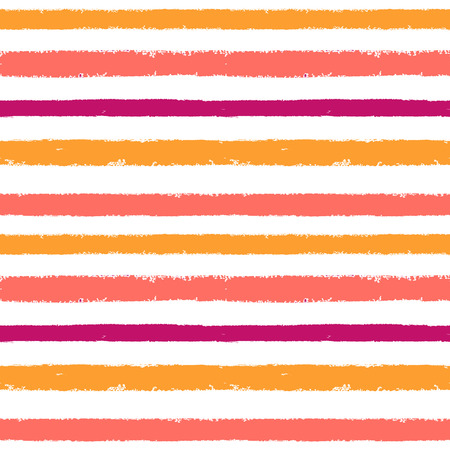 Hand drawn pink, blue, violet ink abstract striped seamless pattern. Vector grunge texture. Paint brush background