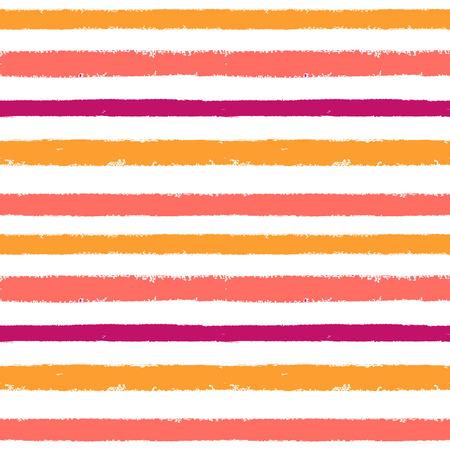 Modello senza cuciture a strisce astratto dell'inchiostro rosa, blu, viola disegnato a mano. Struttura del grunge di vettore. Sfondo di pennello