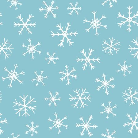 Winter Holiday vector blue background with snow
