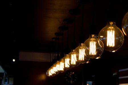 interior decorating concept - Luxury retro edison light lamp decor