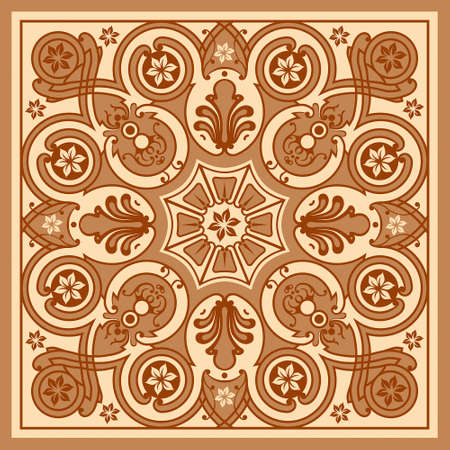 classic pattern. Beautiful flowers isolated textile. Vintage background realistic. Damascus flowers. Drawing engraving. Freehand Wallpaper baroque. victorian style Illustration. Ilustración de vector