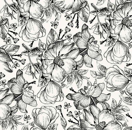 Brier, dog rose, rose hip. Classic pattern. Beautiful white realistic blooming isolated flowers baroque. Vintage background. Drawing engraving. Freehand Wallpaper.
