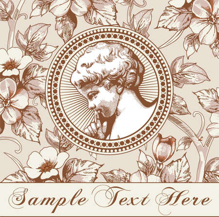 Angel Prayer Easter Boy baby child. Frame baroque. Drawing engraving. Vintage background realistic flowers. Wildflowers isolated. Greeting Easter thanks card. Vector victorian wedding Illustration