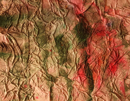 Vintage retro shabby background. Art. Crumpled old paper, watercolors, streaks of paint, strokes, smears, brown color. Stock Photo
