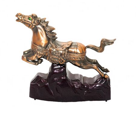 accessories horse: Souvenir horse - lighter metal , side view , white background