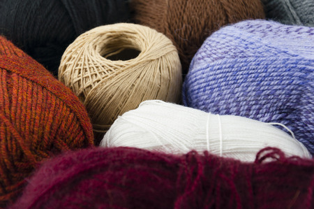 acryle: A set of skeins for knitting of various shades of color