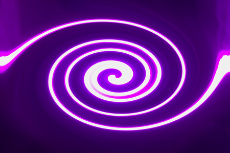 The light line is purple, twisted into a spiral Stock fotó