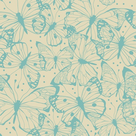 Simless of butterflies Vector
