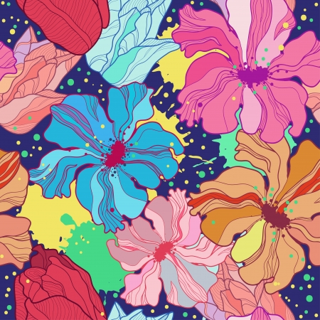 Flower seamless. Vector Vector