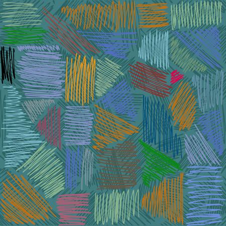 Vector pencil strokes.  Hand-drawn lines