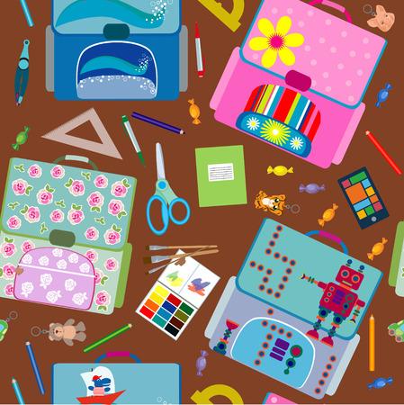 seamless school pattern Vetores