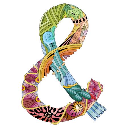 Signo Ampersand Para Colorear. Smbolo C J Iniciales Vintage Letras ...