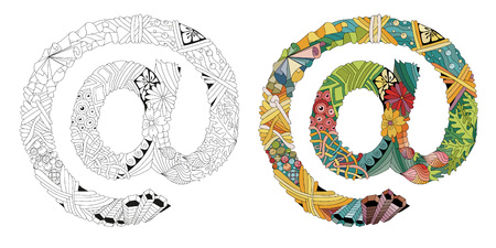Illustration t-shirt design, tattoo and other decorations. Outline and color set Illustration