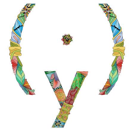 Zentangle de tipografía de mujer de feminidad con líneas limpias para el diseño de camisetas, tatuajes y otras decoraciones Ilustración de vector