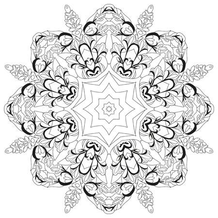 Vektor Erwachsene Malbuch Texturen. Handgemaltes Kunstdesign. Anti-Stress-Malvorlagen für Erwachsene. Handgezeichnete Schwarz-Weiß-Illustration für Malbuch.