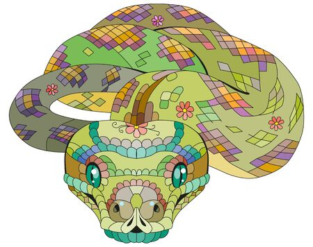 Hand drawn snake for t-shirt and other decorations Ilustrace