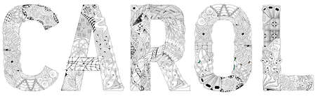 Hand-painted art design. Hand drawn illustration word DAY for coloring, for t-shirt and other decoration Vettoriali
