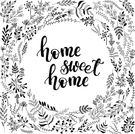'home sweet home' poster, banner design 向量圖像