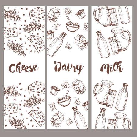 Patrón Transparente De Productos Lácteos, Dibujado A Mano, Bocetos ...