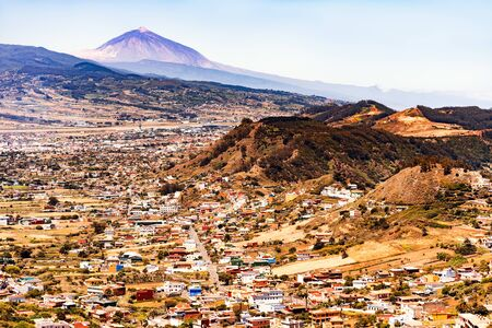 Holidays in the Canary Islands with stunning views of the active volcano Teida. The feeling of tranquility and beauty of nature.