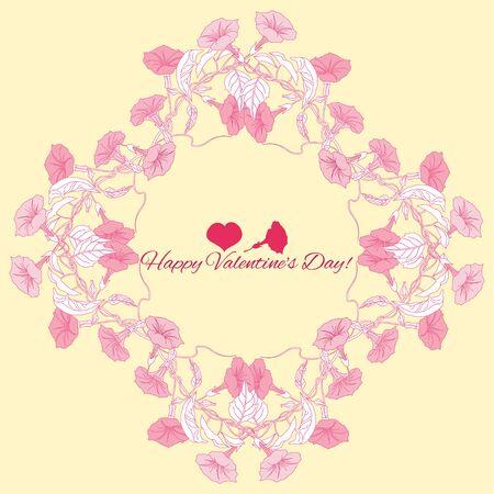 dessin fleur: Contexte de fleurs de liseron rose. Vector illustration